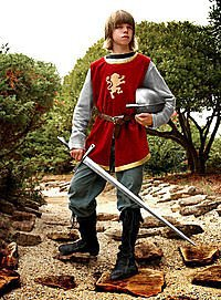 Childrens Knight Costume f�r Kinder