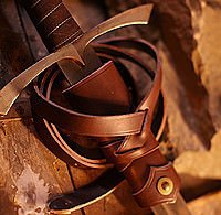Viking Sword Hanger Leather